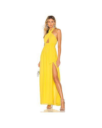 Вечернее платье с вырезом желтый Majorelle
