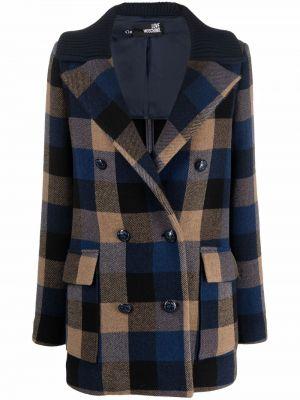 Шерстяной пиджак - синий Love Moschino