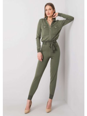 Kombinezon dzianinowy - khaki Fashionhunters
