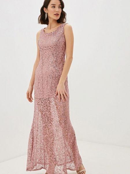 Вечернее платье розовое осеннее Pavesa