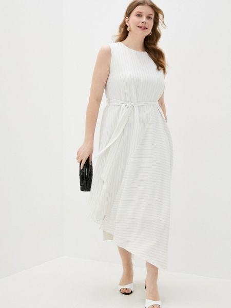 Белое повседневное платье снежная королева