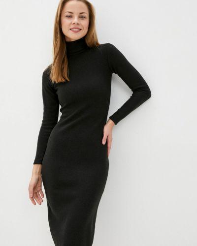 Вязаное черное платье Toryz