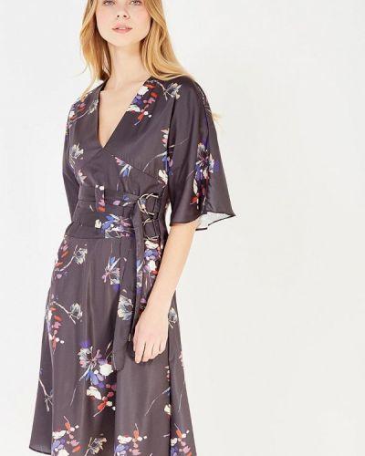 Платье осеннее черное Lost Ink.