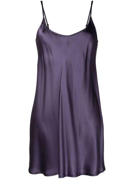 Koszula nocna z jedwabiu - fioletowa La Perla