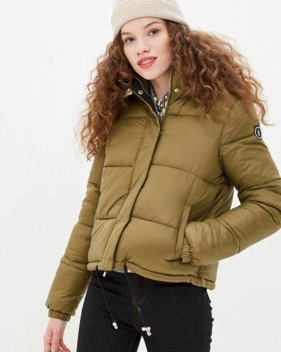 Утепленная куртка - зеленая Sh