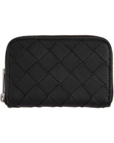 Черный кошелек для монет с подкладкой со шлицей Bottega Veneta