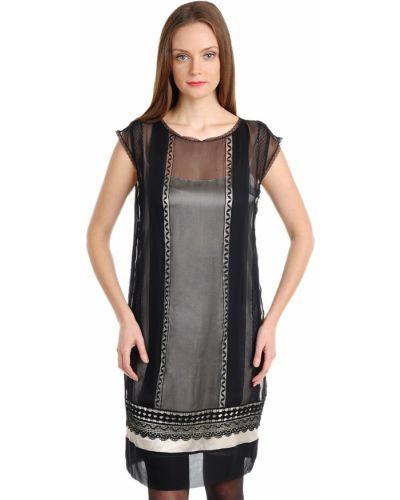 Шелковое платье - черное Alberta Ferretti