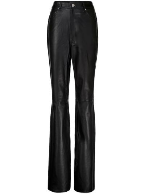 Czarne spodnie skorzane Grlfrnd