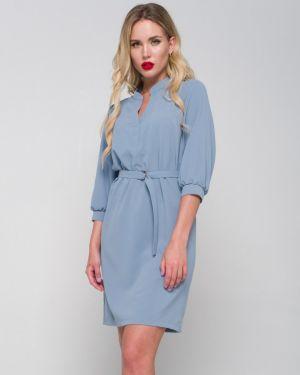 Деловое платье на пуговицах с V-образным вырезом Ellcora