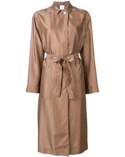 Длинное пальто с капюшоном Agnona