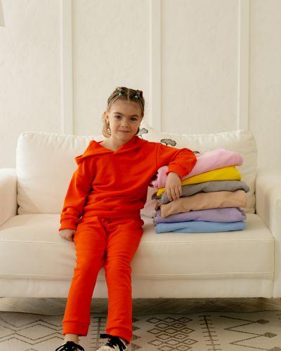 Оранжевый трикотажный спортивный костюм с высокой посадкой Waukeen