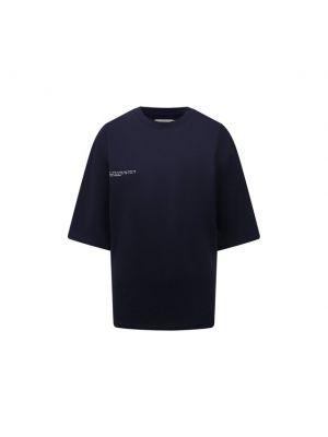 Хлопковая футболка - синяя Pangaia