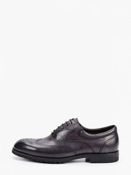 Кожаные серые туфли Marco Lippi
