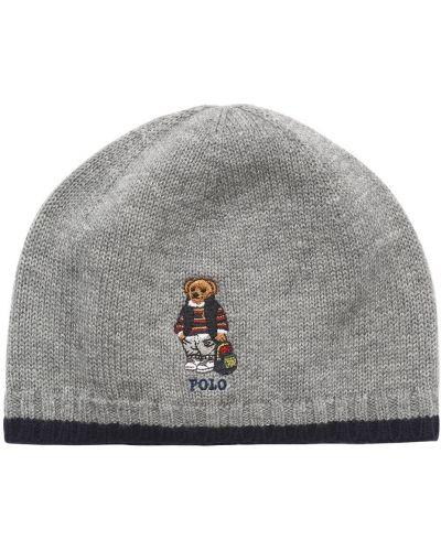 Bawełna wełniany kapelusz z haftem Ralph Lauren