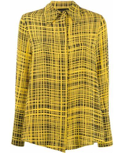 Блузка с длинным рукавом в полоску с воротником-стойкой Erika Cavallini