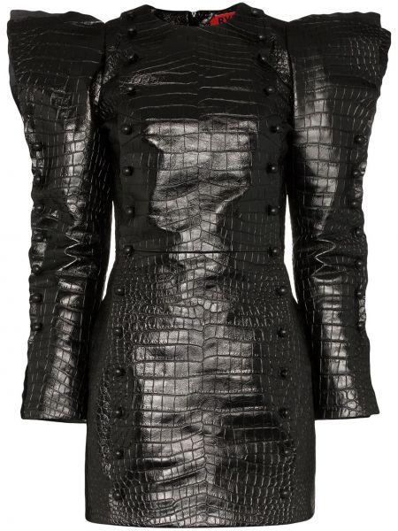 Платье мини на молнии кожаное Ronald Van Der Kemp