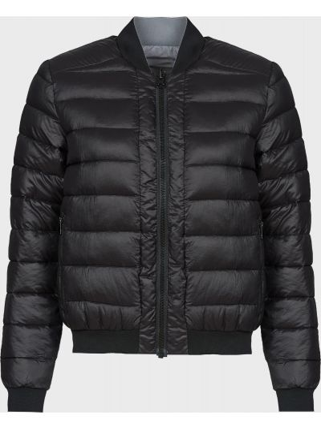 Черная куртка двусторонняя на молнии Love Moschino