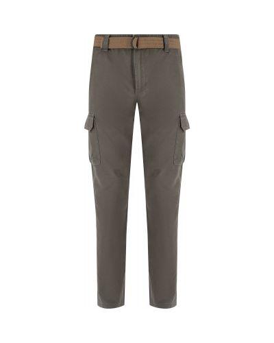 Прямые хлопковые коричневые брюки Outventure