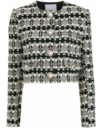 Шерстяной черный удлиненный пиджак на пуговицах Nk