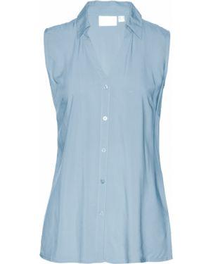 Блузка без рукавов с коротким рукавом с вырезом Bonprix