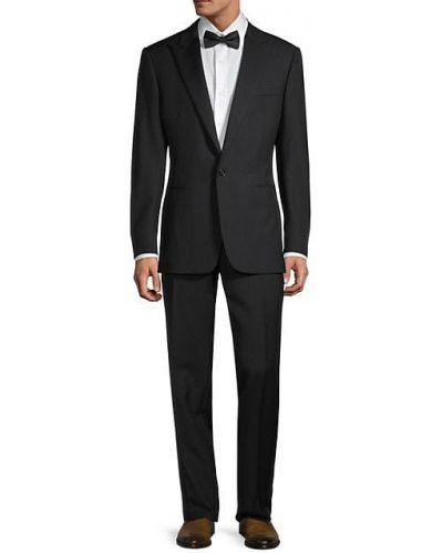 Czarny smoking z długimi rękawami wełniany Ralph Lauren