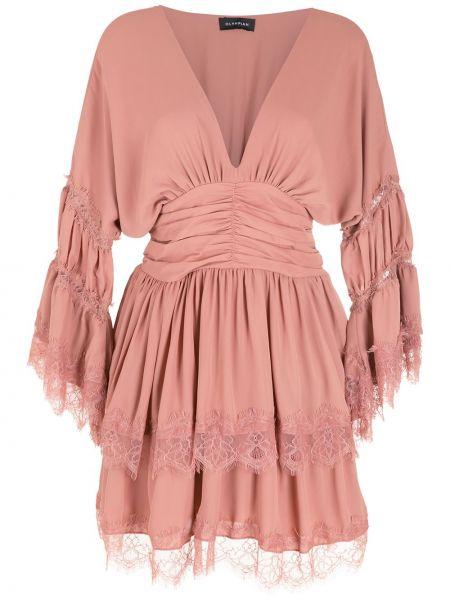 Платье макси длинное - розовое Olympiah