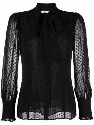 Bluzka z haftem - czarna Michael Michael Kors