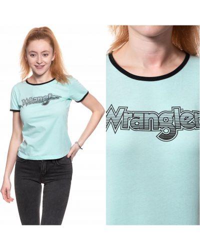 Zielony t-shirt bawełniany na plażę Wrangler