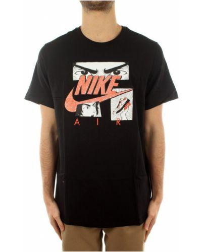 Czarna podkoszulka krótki rękaw Nike