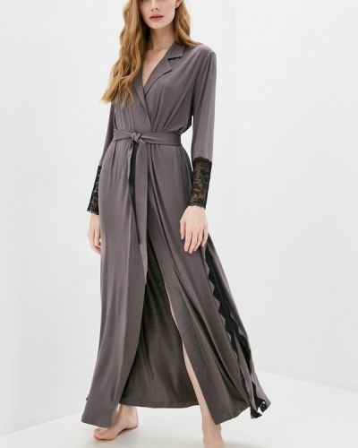 Серый домашний халат Petit Pas