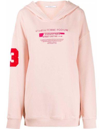Bluza z kapturem z kapturem różowy Givenchy