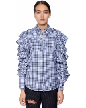 Рубашка в клетку - синяя Facetasm