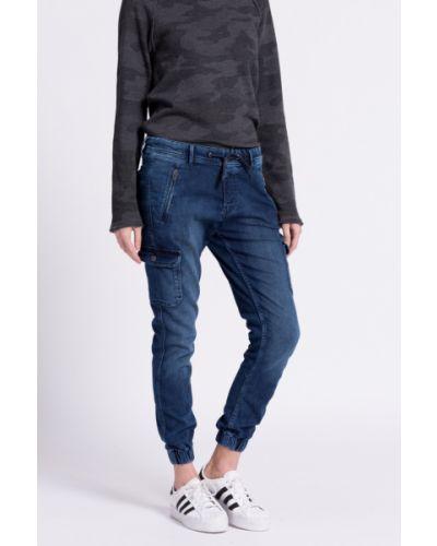 Джинсы бойфренды mom на резинке Pepe Jeans