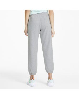 Спортивные брюки серые с карманами Puma