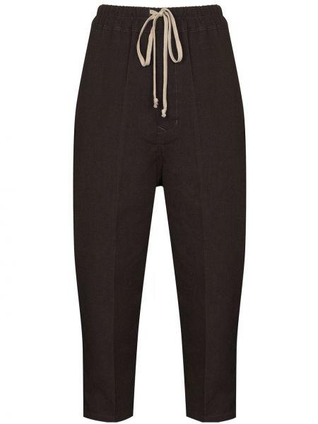 Prosto spodni przycięte spodnie z kieszeniami wysoki wzrost Rick Owens