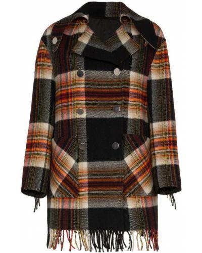 Длинное пальто с капюшоном с бахромой Calvin Klein 205w39nyc