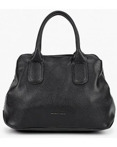 Черная кожаная сумка из искусственной кожи Marco Tozzi