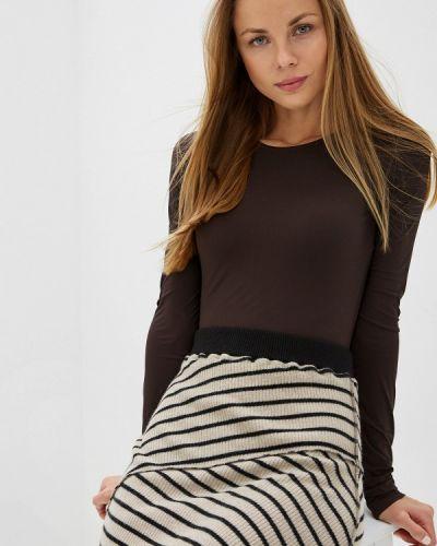 Боди блуза коричневый Mm6 Maison Margiela
