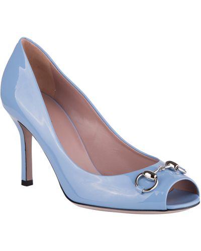 Туфли на каблуке кожаные осенние Gucci
