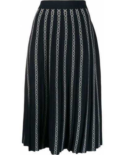 Плиссированная юбка на резинке с завышенной талией Tory Burch