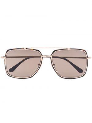 Brązowy okulary przeciwsłoneczne metal Tom Ford