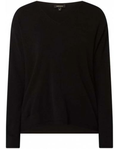 Sweter z dekoltem w serek - czarny More & More