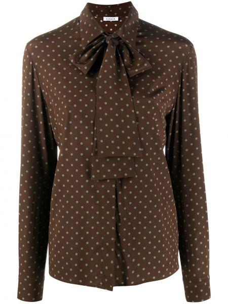 Шелковая блузка в горошек с длинными рукавами P.a.r.o.s.h.