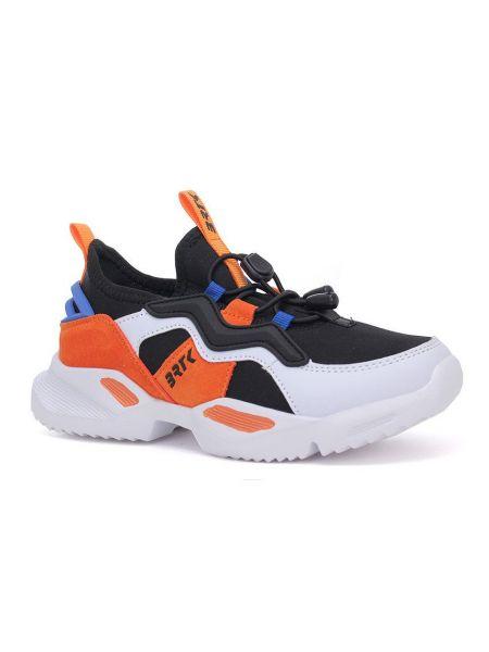 Кожаные кроссовки - оранжевые Bartek