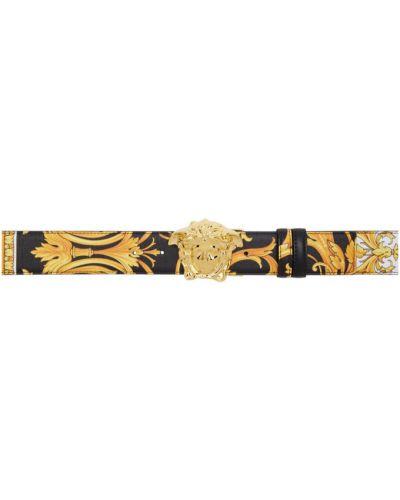 Pasek biały żółty Versace