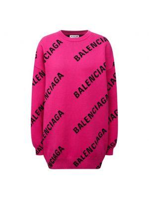 Шерстяной свитер - розовый Balenciaga