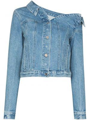 Хлопковая синяя джинсовая куртка с карманами Rta