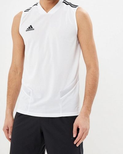 Белая спортивная майка Adidas