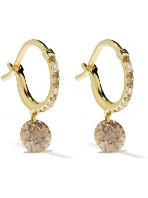 Золотые серьги золотые с бриллиантом свободного кроя Raphaele Canot