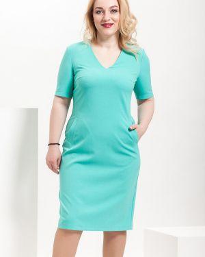 Платье мини классическое с V-образным вырезом Modellos
